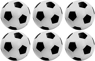 HUQUAN Football Tabletop Arcade Game, 6 Pcs Mini Footballs Plastic Ball Table Top Soccer Game Power Shot Football Skills Board Game for Kids