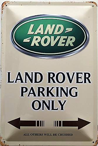 Deko7 Blechschild 30 x 20 cm Land Rover Parking only braun