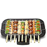 AZOD Electric Barbeque Grill 2000W Tandoori Maker Indoor and Outdoor Grill, Non Stick, with 5 Temperature Adjustments, Portable Electric Grill, Non-Slip Feet, Stainless Steel Handle