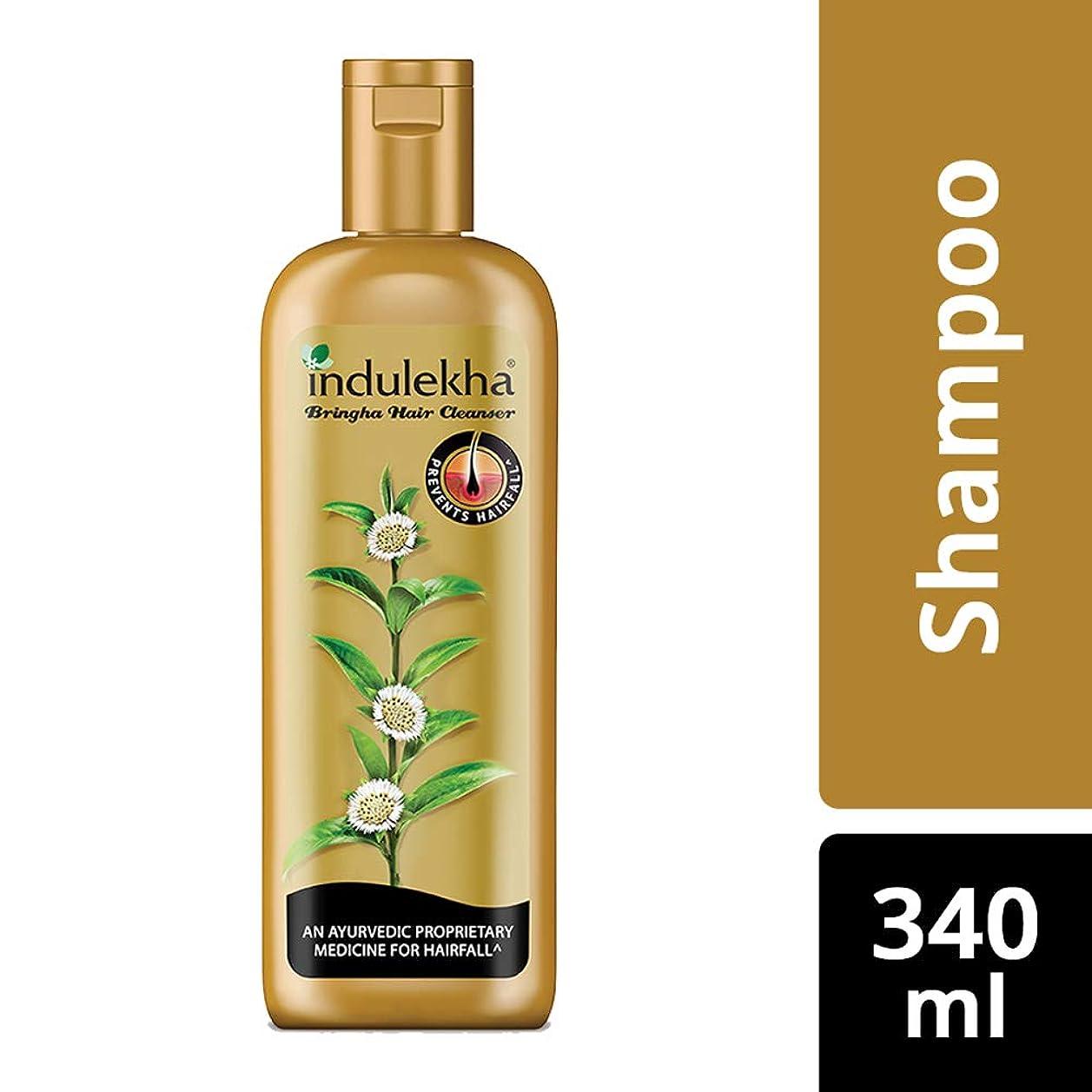 コンパイルクラウド百科事典Indulekha Bringha Anti Hair Fall Hair Cleanser Shampoo, 340ml