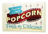 Kino Deko Popcorn Blechschild, 20 x 30 cm