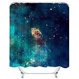 Set di tende da doccia Stellar Jet Carina Nebula Imaged by Hubble 's Wfc3 Uvis Detector Universe Tessuto in Poliestere Decor con 12 ganci Impermeabile lavabile 12 asole per bagno