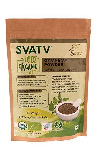SVATV Gymnema Powder II Gymnema Sylvestre II 1/2 LB, 08 oz, 227g II Fabriqué en Inde