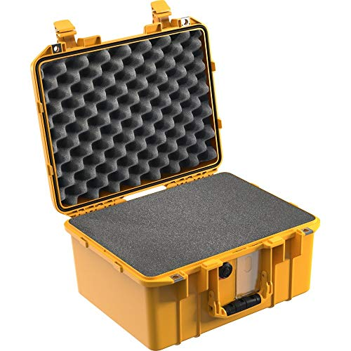 Peli Air Case 1507 Mallette à Outils étanche à l'eau et à la poussière avec Mousse à Gazon, Protection IP67 Jaune