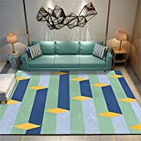 Alfombra Lavable Infantil Muebles Sala De Estar Los tapetes para el hogar con Alfombra Verde para el hogar se Pueden Lavar a máquina, a Prueba de Humedad e insonorizados 140X200cm