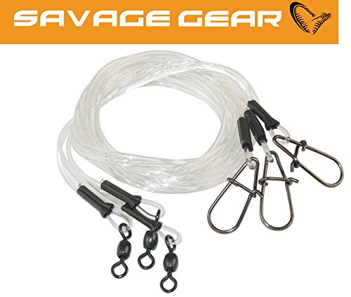 Savage Gear Regenerator Trace 50cm 0,85mm 20kg - 3 mono Hechtvorfächer, Raubfischvorfach Spinnvorfach zum Spinnangeln Hechtvorfach