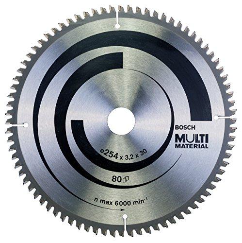 Bosch 2 608 640 450 - Hoja de sierra circular Multi Material - 254 x 30 x 3,2 mm, 80 (pack de 1)