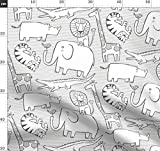 Dschungel, Tier, Giraffe, Elefant, Tiger, Nashorn, Löwe