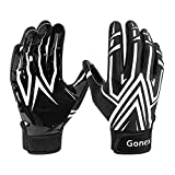 Gonex Football Gloves Adult Mens Receiver Gloves Silicone Grip Adult Sizes XLarge for Football Games 1 Pair