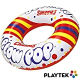Playtek Pool Float, Large Round White Pop Swim Tube, Durable Floats Tubes for Swimming On Beach, Pool, Water Sports for Adults & Kids