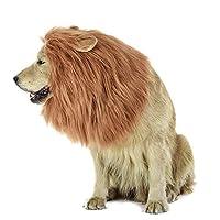 - Fur & Polyester: Perücke besteht aus hochwertigem Material, das langlebig und komfortabel ist. - Größe: Es kann leicht um den Hals Ihres Welpen mit großen oder mittleren Halsgröße (von 60 cm bis 75 cm) passen. - Diese einzigartige Löwenperücke ist ...