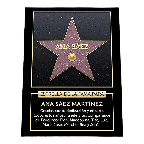 Regalo Personalizado: Estrella de la fama Personalizable con Nombre y dedicatoria