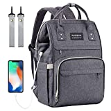 Baby Changing Bag Backpack, Nappy Bag Backpack with USB Charging Port, Diaper Bag