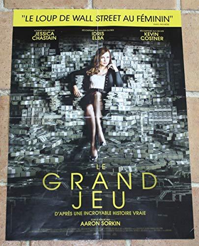 CINEMA / Le Grand Jeu - 2018 - Jessica Chastain - 116x156cm - Affiche Originale