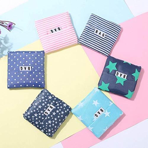 Jyuesi - Bolsa de la compra (35,5 x 58 x 12 cm), diseño de rayas, color verde