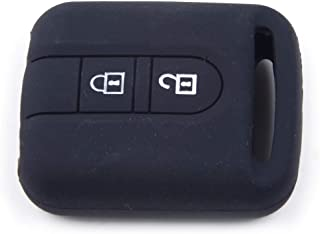 beler Black 2 Buttons Silicone Remote Key Cover Case Fob Fit For Nissan Qashqai Micra Navara Almera Note Patrol