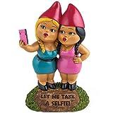 Selfie Sisters Gartenzwerg - Selfie Garten Zwerg Gartenfigur Handy