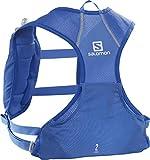 Salomon AGILE 2 SET Mochila ligera de trail running, Unisex, Incl. 2 botellas SoftFlask 500 ml, LC1417700, Azul (Nebulas Blue)