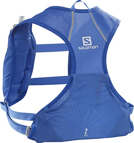 Photo of Salomon Lightweight Trail Running Backpack, Unisex, AGILE 2 SET, Incl. 2 Soft Flask Bottles 500 ml, Blue (Nebulas Blue), LC1417700