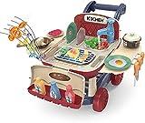 Q-FQRM Juego de rol de cocina simulada   Juego de barbacoa para niños 25 piezas – Juego de juguetes de comida con sonido ligero y grifo de agua   Regalo perfecto para niños y niñas