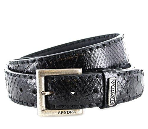 Sendra Bottes Ceinture 8563 Ceinture en cuir ceinture (en différentes couleurs & variantes alternatif) - Noir - 110