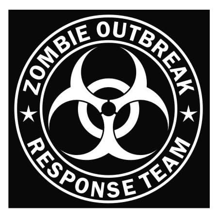 Zombie Outbreak Response Team Crâne Autocollant Vinyle Autocollant pour voiture ou ordinateur portable
