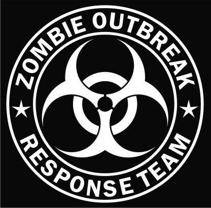 Keen Zombie Outbreak Response Team Vinyl Decal Sticker|Cars Trucks Vans Walls Laptop|White|5.5 in|