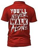 Liverpool Poloshirt | Stadt Sport Fussball Trikot Ultras | M1 FB (L, Rot)