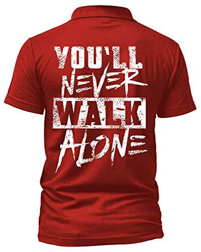 Liverpool Poloshirt | Stadt Sport Fussball Trikot Ultras | M1 FB (XL, Rot)