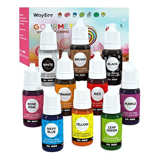 Colorant Alimentaire Liquide 10 Couleurs x 10ml