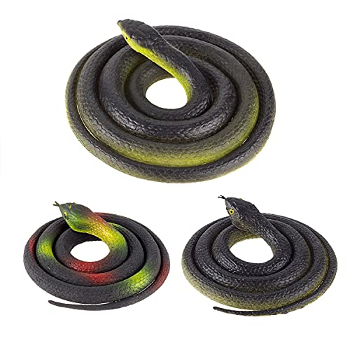 Realistic Rubber Toy Snake Prank Props