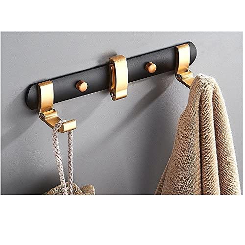 Espacio de aluminio negro dorado oculto con gancho de gancho de gancho de gancho de gancho de gancho de gancho de gancho de gancho de gancho de baño.-C1 Gancho para toallas de pared fácil de ins