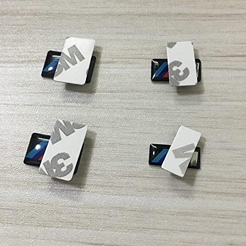 10 unidades de emblemas E36 E46 E92 F30 E39 E60 G40 3 emblemas adhesivos para llantas de color trasero guardabarros laterales emblemas 3D adhesivos para coche con logotipo M
