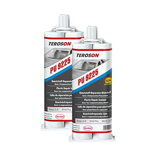 Teroson PU 9225 Lot de 2 tubes de colle de réparation pour plastique 267081 25 ml