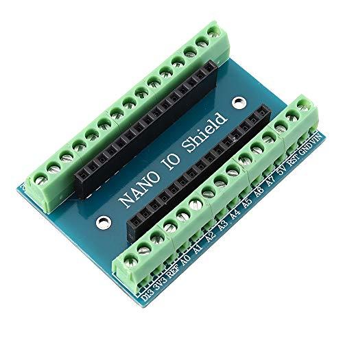 ILS - 3 Stück Nano V3.0 Terminal Adapter AVR ATMEGA328P ohne nRF2401 + Expansion Interface DC Power Board für Arduino