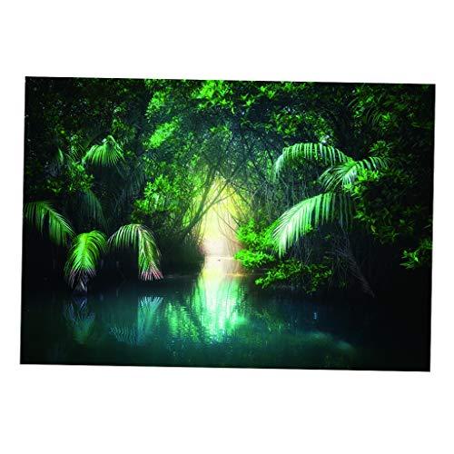 MagiDeal 3D HD Print Einzelkleber Bild Hintergrund für Aquarium Aquarium - 76 x 56 cm
