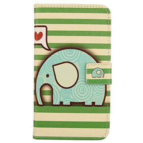 Lankashi PU Flip Leder Tasche Hülle Hülle Cover Schutz Handy Etui Skin Für Nokia 3310 3G 2017 / 4G 2018 (not for The Nokia 3310 2017) (Elephant Design)