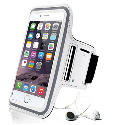 BPFY - Brazalete deportivo para iPhone 6/6S/7, color blanco