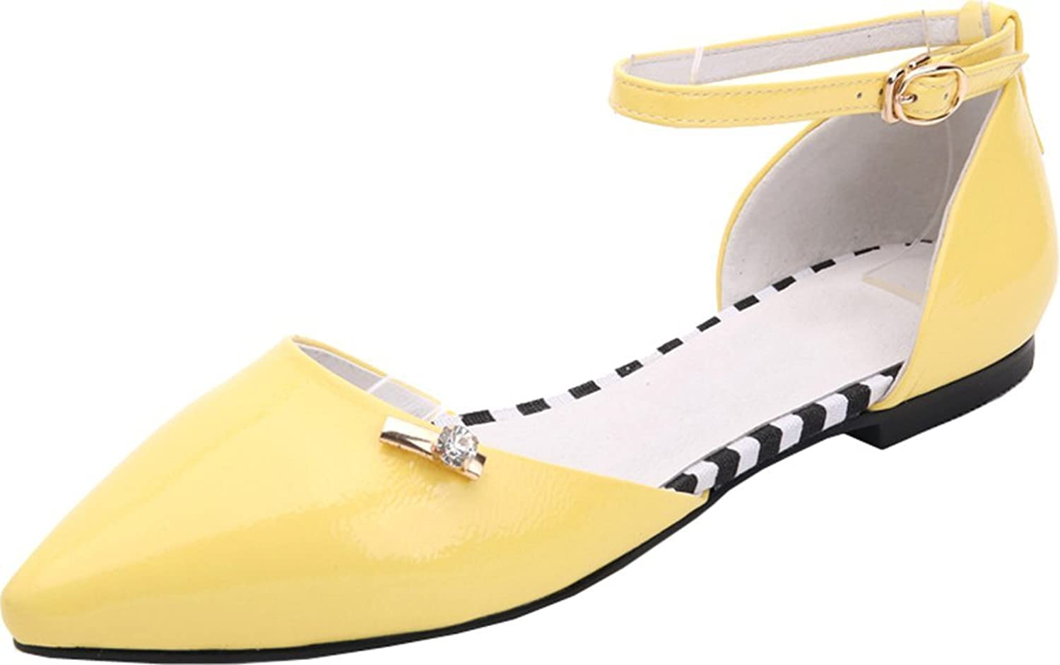 Abby Womens Fashion Casual Shallow Mouth Pointed Toe Slip On Flats Pump shoes