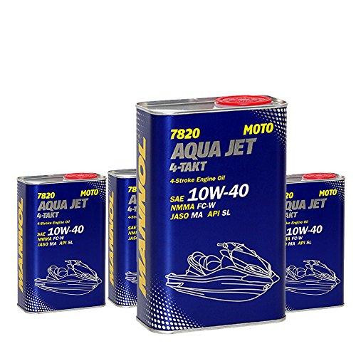 MANNOL 4 x 1L 7820 Aqua Jet 4-Takt 10W-40 / API SL NMMA FC-W Jetskis Motoröl
