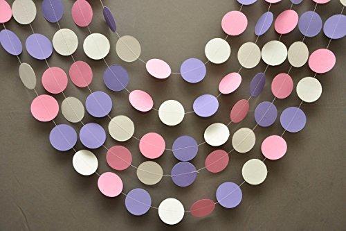 Decorazione, Rosa Bianco e Lilla Ghirlanda Di Pasqua, Pasqua, striscione, festone di carta k-c-0001, Baby Shower decorazioni, primo compleanno decorazione