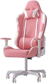 silla gaming tela rosa