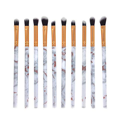 IFOUNDYOU 10 PièCes De Maquillage Pinceau Professionnel Visage Ombre à PaupièRes Eyeliner Foundation Blush