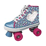 Disney Frozen II, Pattini a rotelle con Paillettes girevoli Bambina, Multicolor, 31-32...