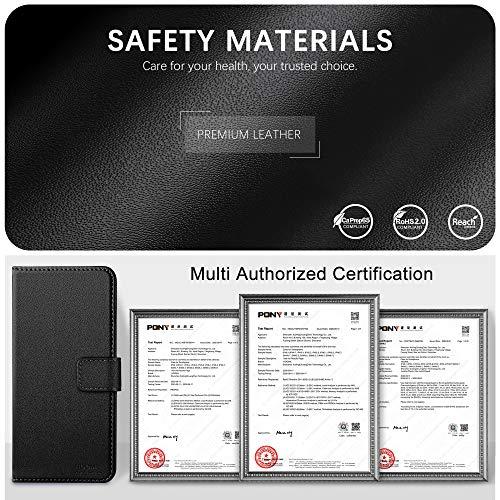 HOOMIL Handyhülle für Huawei P Smart 2021 Hülle, Premium Leder Flip Case Schutzhülle für Huawei P Smart 2021 Tasche (Schwarz)