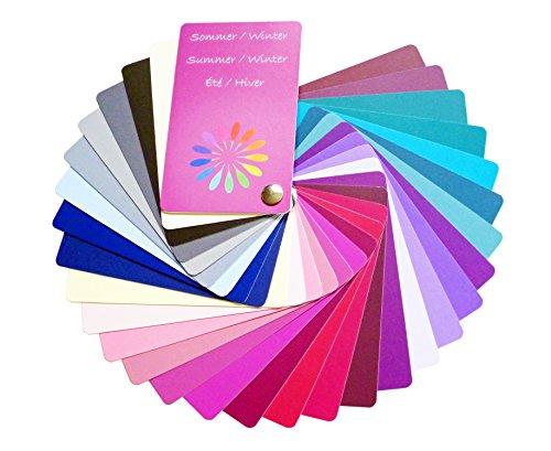 Farbpass Sommer/Winter Mischtyp (Cool Summer/Winter) als Fächer mit 30 typgerechten Farben zur Farbanalyse, Farbberatung
