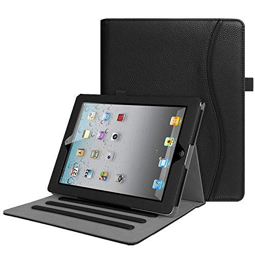 Fintie iPad 2/3/4 Case [Corner Protection] - [Multi-Angle Viewing] Folio Smart Stand Cover with Pocket, Auto Sleep/Wake for Apple iPad 2, iPad 3 & iPad 4th Gen with Retina Display, Black