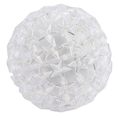 LED-Leuchtkugel Stern, Ø 14cm, warmweiß, mit 100 LED-Lämpchen, netzbetrieben | Leuchtball, Fensterdekoration, Raumdekoration für Advent, Weihnachten, Winter, Neujahr