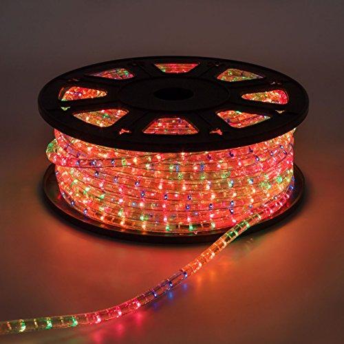 LuminalPark Tube Lumineux d'extérieur en Rouleau, Ampoule Multicolore, Cordon de 13 mm, 230V, 50 m, lumière Fixe