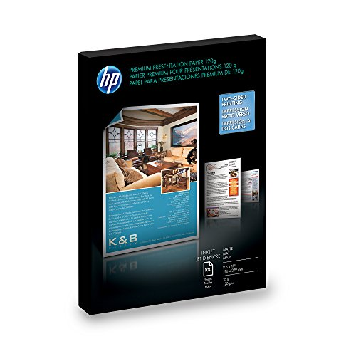 HP Premium Presentation Paper for Inkjet Printer, Matte, 8.5x11, 100 Sheets DISCONTINUED BY MANUFACTURER